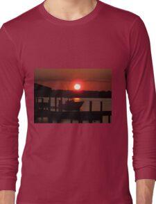 Boating At Sunset Long Sleeve T-Shirt