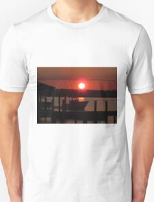 Boating At Sunset Unisex T-Shirt