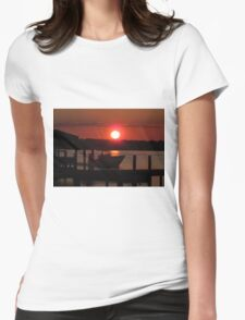 Boating At Sunset Womens Fitted T-Shirt