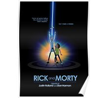 Rick and Morty in Dimension Tron Poster