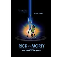 Rick and Morty in Dimension Tron Photographic Print