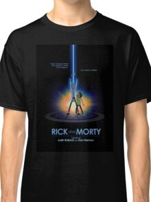 Rick and Morty in Dimension Tron Classic T-Shirt
