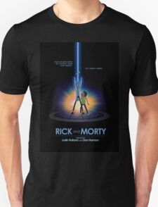 Rick and Morty in Dimension Tron Unisex T-Shirt