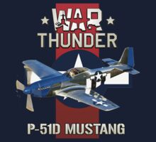 War Thunder P-51 Mustang  Kids Tee