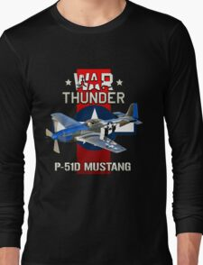 War Thunder P-51 Mustang  Long Sleeve T-Shirt
