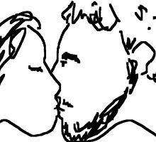 the kiss -(120611b)- digital artwork/ms paint    by paulramnora