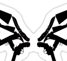 Gun Wings Sticker