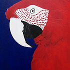 Green Wing Macaw by Joann Barrack
