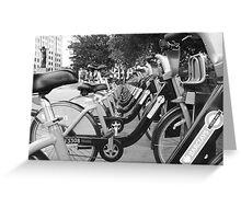 Boris's Bikes Greeting Card