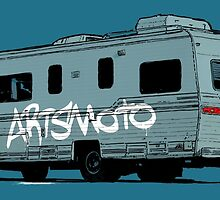 Artsmoto RV Dripping Paint (white) by Tom Mayer