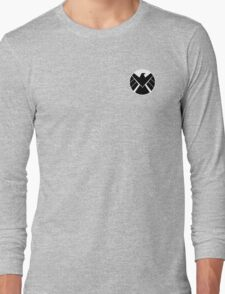 Agents of SHIELD (White, Reversed) Long Sleeve T-Shirt