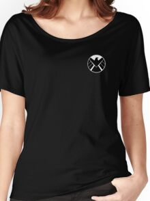 Agents of SHIELD (White, Reversed) Women's Relaxed Fit T-Shirt