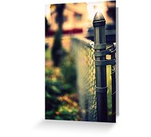 fenced in. Greeting Card