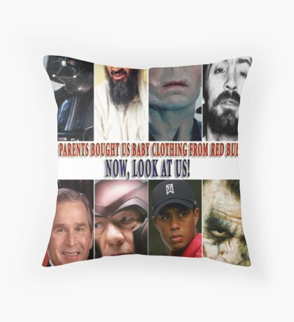 Evil Baby Clothes Throw Pillow