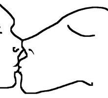 the kiss -(120611d)- digital artwork/ms paint    by paulramnora