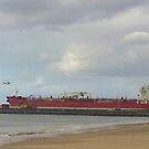 Red ship by BigBlue222