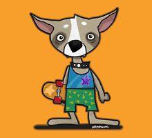Skating Chihuahua Cartoon Dog Unisex T-Shirt