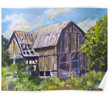 Old barn in Prince Edward County, Ontario Poster