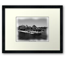 St. Lawrence Seaway/Thousand Islands in Black & White Framed Print