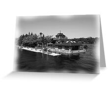 St. Lawrence Seaway/Thousand Islands in Black & White Greeting Card