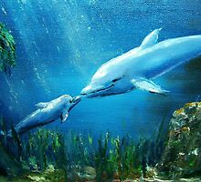 dolphin & baby by Tilly Campbell-Allen