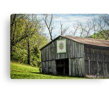 Kentucky Barn Quilt - Mariners Compass Metal Print