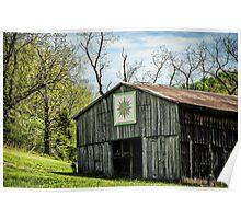 Kentucky Barn Quilt - Mariners Compass Poster