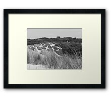 mono dune view Framed Print