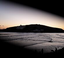 Burgh Island in the eye  by garlichound