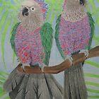 Hawk Headed Parrots by Joann Barrack