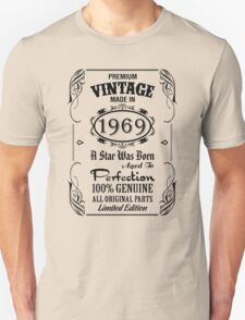 Premium Vintage Made In 1969 T-Shirt
