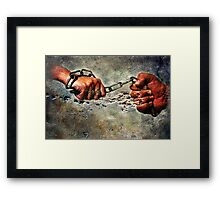 Never Break The Chain Framed Print