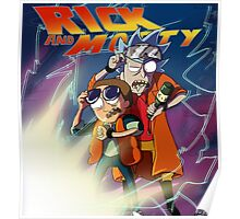 Rick and Morty Back to the Future Edition Poster