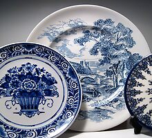 Delft and Wedgewood Still Life by marybedy
