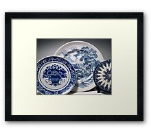 Delft and Wedgewood Still Life Framed Print