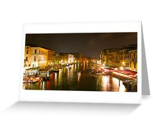 Four Seconds in Venice - view from the Ponte di Rialto Greeting Card
