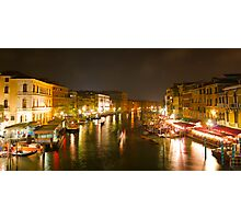 Four Seconds in Venice - view from the Ponte di Rialto Photographic Print