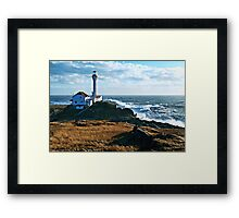 A Gusty Day at the Cape Framed Print
