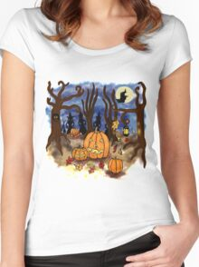 Witchy Halloween Women's Fitted Scoop T-Shirt