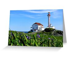 Cape Forchu in Irises Greeting Card