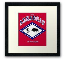 Explore ARKANSAS...If you DARE! Framed Print