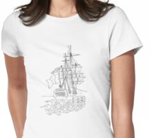 L'Hermione at Anchor Womens Fitted T-Shirt