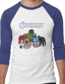 The Pugvengers Men's Baseball ¾ T-Shirt
