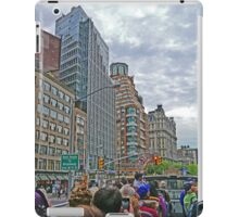 Touring on the streets of New York iPad Case/Skin