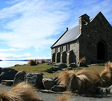 Church of Good Shepherd, Lake Tekapo, New Zealand by Justine Chesterman