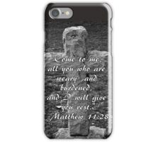 Stone Cross with Verse iPhone Case/Skin
