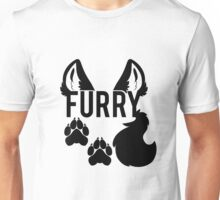 FURRY -black text- Unisex T-Shirt