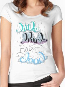Little Black Rain Cloud Women's Fitted Scoop T-Shirt