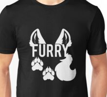FURRY -white text- Unisex T-Shirt