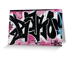 Abstract Graffiti Ornament on the Brick Wall Greeting Card